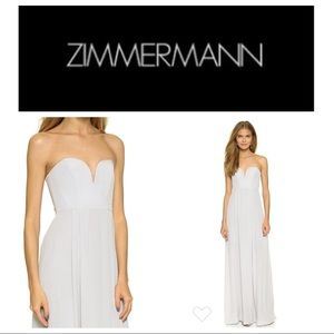 Zimmerman Silk Strapless Maxi Dress